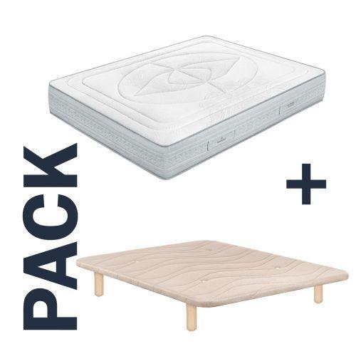 Imagen para pack de colchón Indra de Sonpura y base tapizada Maxus de GoldSleep